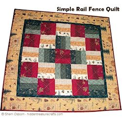 First Quilt - Rail Fence 250