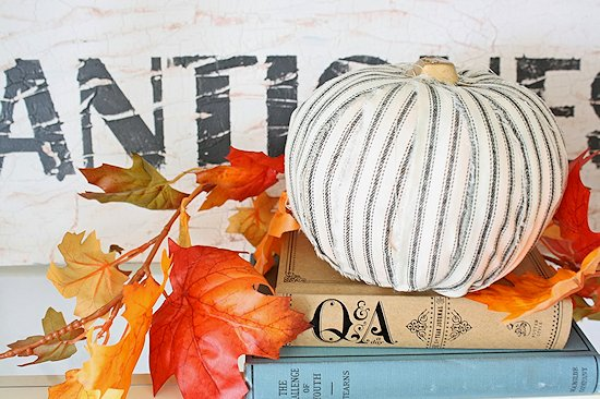 Vintage Fabric Pumpkins