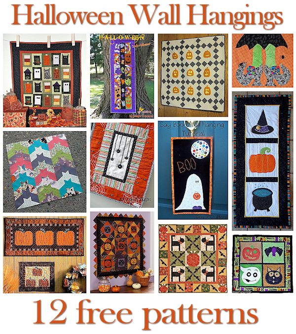 12 Halloween Wall Hanging Patterns