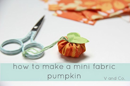 Mini Fabric Pumpkin