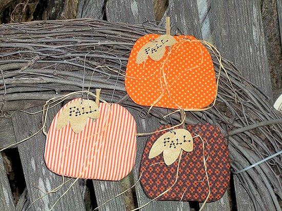 Scrappy Fabric Pumpkin Ornament