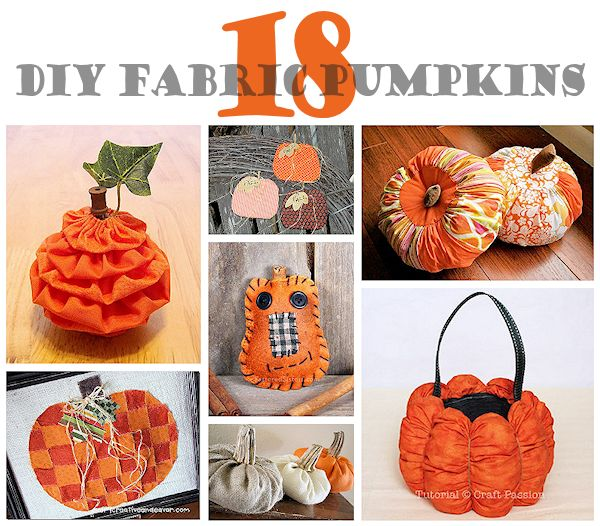 18 DIY Fabric Pumpkins