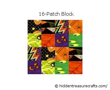 16-Patch Halloween Block