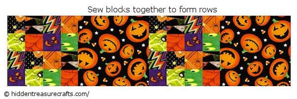 sew halloween quilt blocks rows