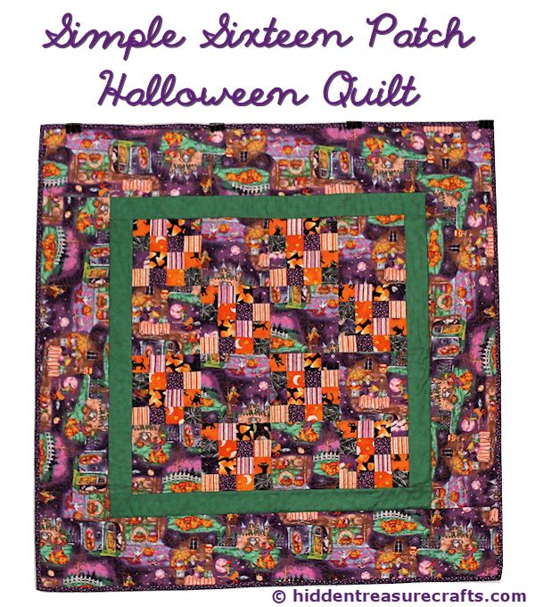 Simple Sixteen Patch Halloween Quilt