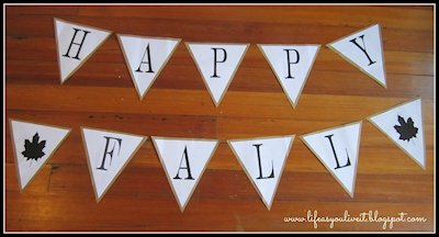 Happy Fall Bunting Flag Banner
