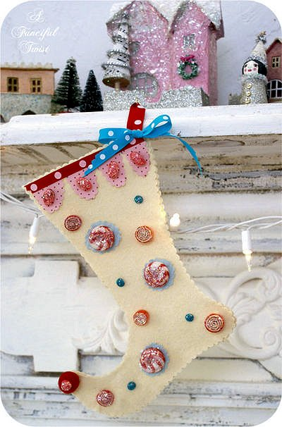 No-Sew Felt and Candy Stockings