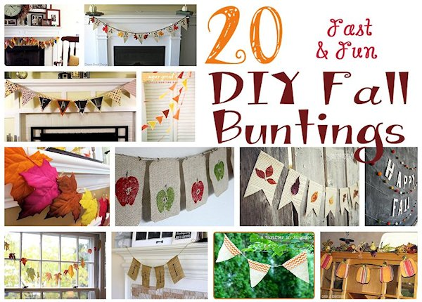 20 Fun and Easy DIY Fall Buntings