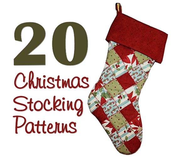 Christmas Stocking Pattern Patchwork