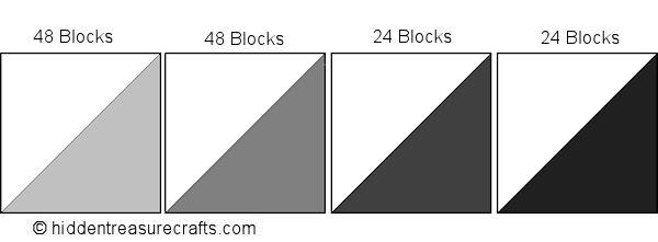 Gray Half Square Triangle Blocks