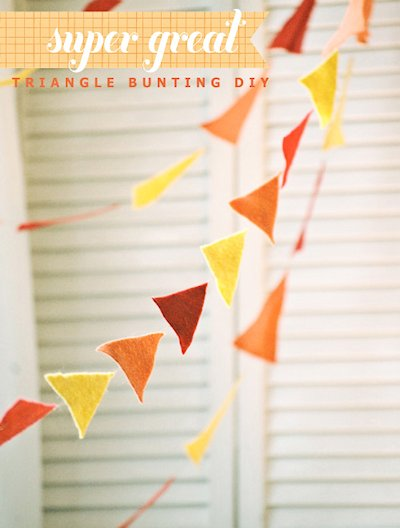 Triangle Bunting DIY