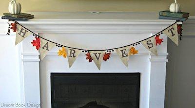 DIY Fall Harvest Burlap Banner