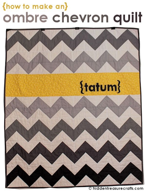 How to Make an Ombre Chevron Quilt