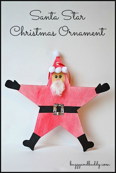 Santa Star Ornament