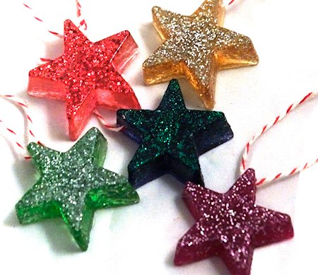 Resin Star Christmas Tree Decorations