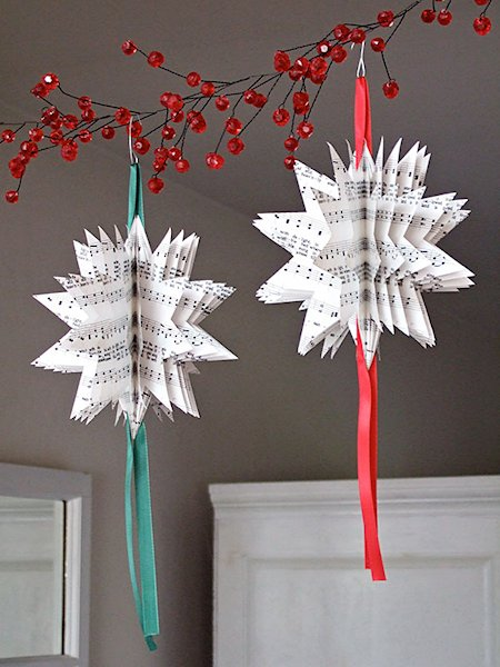 3D Sheet Music Star Ornament