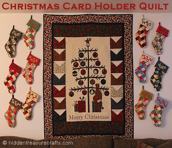 Christmas Card Holder Quilt