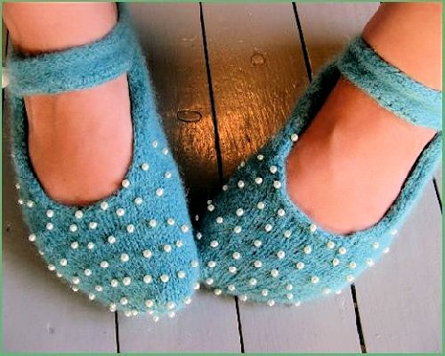 Knitted Ballerina Slippers