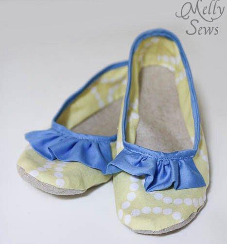 Sew Ruffle Slippers