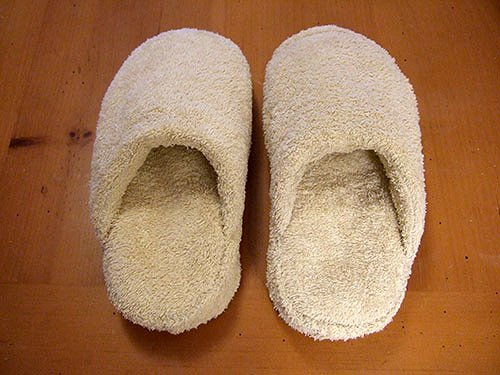Recyled Towel and Flip-Flop Slippers