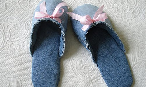 Make Slippers from Jeans