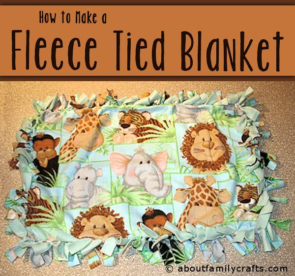 Fleece Tied Blanket Tutorial