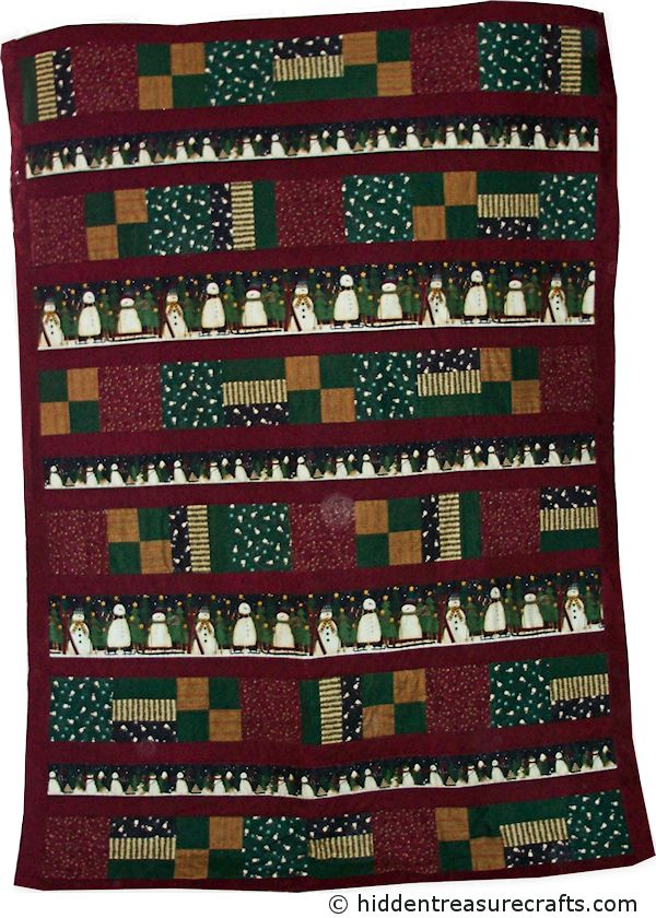 Snowy Easy Row Quilt