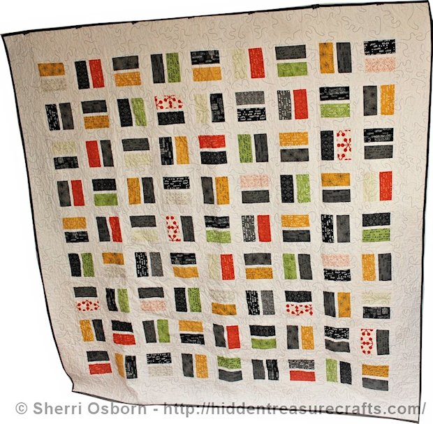White Comma Brick Quilt