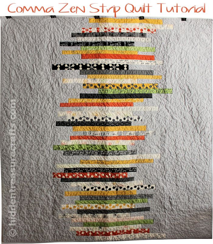 Comma Zen Strip Quilt Tutorial