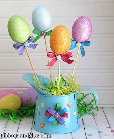 Glitter Eggs Easter Centerpiece