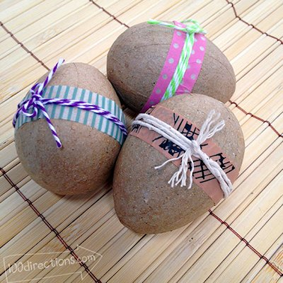 Decorative Washi Tape and Twine Eggs