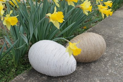 Large Twine Wrapped Easter Eggs