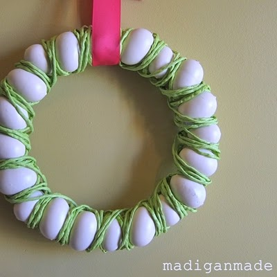 Egg and Raffia Easter Wreath