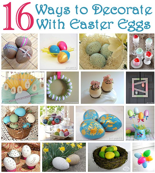 16 Ways to Decorate with Easter Eggs