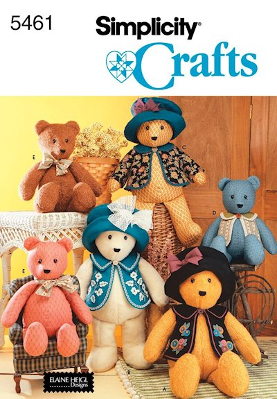 Like I mention previously, I made 10 bears. Grandma had 5 daughters ...