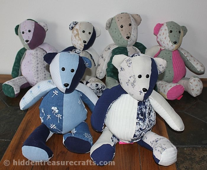 7 Memory bears for the sisters