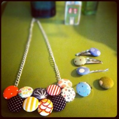 Fabric Covered Button Jewelry