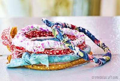 5 Minute Fabric Wrapped bracelets