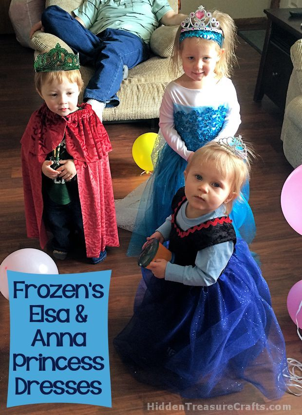 Frozen's Elsa and Anna Princess Dresses