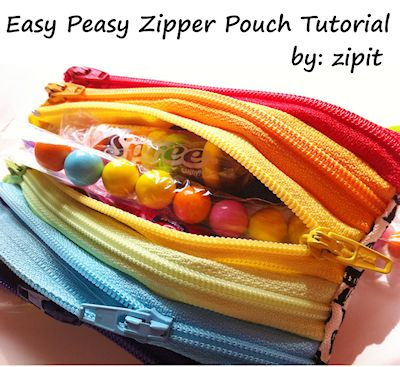 Easy Peasy Zipper Pouch Tutorial
