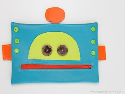 Robot Zipper Mouth Pencil Case
