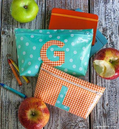 Monogrammed Zipper Bags