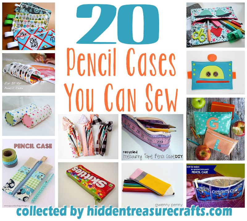 20 Pencil Cases to Sew | Hidden Treasure Crafts and Quilting