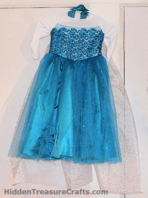 frozen Elsa's princess dress front