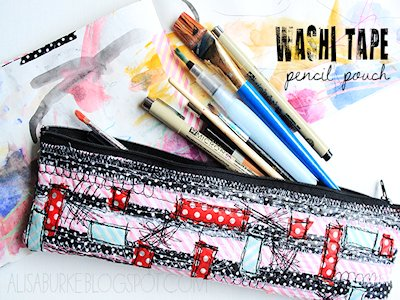 Washi Tape Pencil Pouch