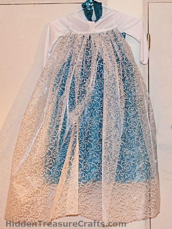frozen elsa's princess dress back