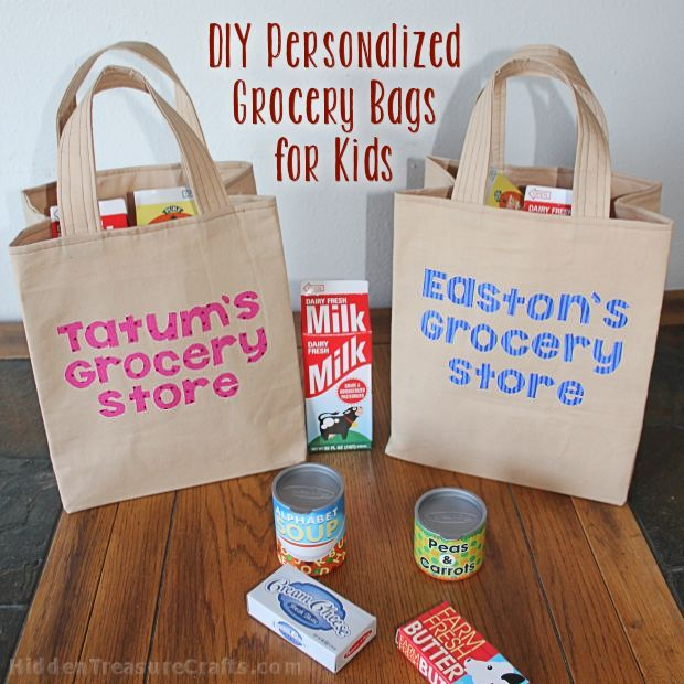 How to Make  Personalized Grocery Bags for Play