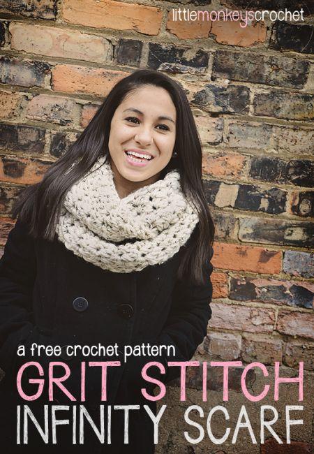 Grit Stitch Infinity Scarf