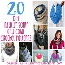 20 DIY Infinity Scarf and Cowl Crochet 250