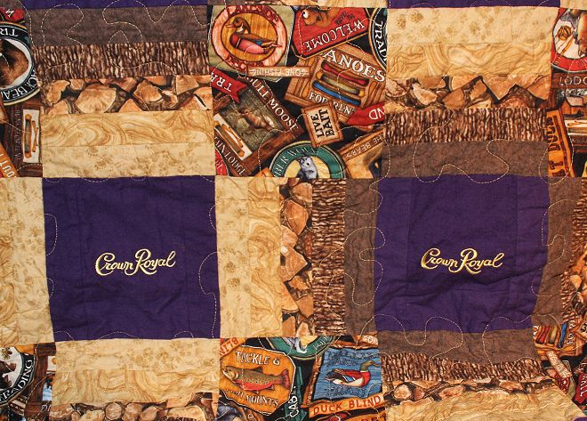 Close Up of Crown Royal Quilt